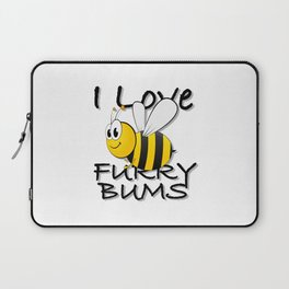 I Love Fury Bums Laptop Sleeve