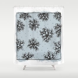 Floret Cluster Shower Curtain