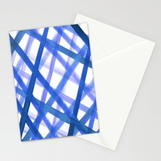 Criss Cross Blue Stationery Cards