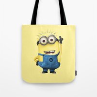 tim shumate Tote Bags featuring It's Tim! by Harry Martin