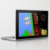 bible verses Laptop & iPad Skins featuring 8-bit Bible by Jim Lockey