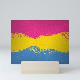 Pansexual Ornamental Flag Mini Art Print