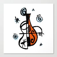 cello Canvas Prints featuring Cello by Ewen Prigent