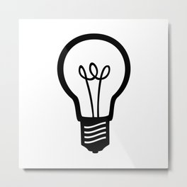 Simple Light Bulb Metal Print