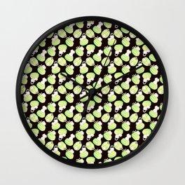 Matcha Macarons & Kittens Wall Clock