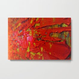 Up Close & Personal with Red Townscape II, #2 Metal Print