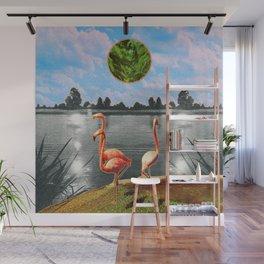 The flamingos Wall Mural