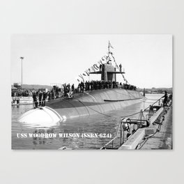 USS WOODROW WILSON (SSBN-624) Canvas Print