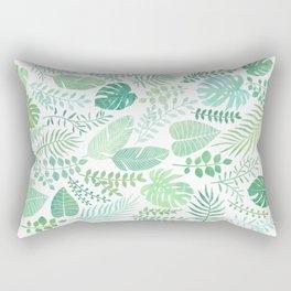 Green tropical leaves pattern Rectangular Pillow