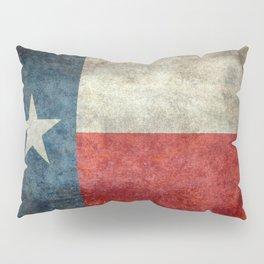 Texas state flag, vintage banner Pillow Sham