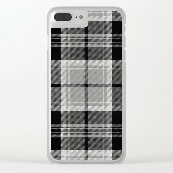Black & White Tartan (var. 2) Clear iPhone Case