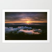sun behind italy Art Print