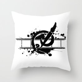 Badass Art Studio Logo Throw Pillow