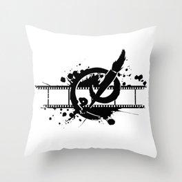 Badass Art Studio Logo Throw Pillow