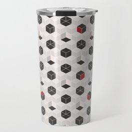 Beige Cubes Travel Mug