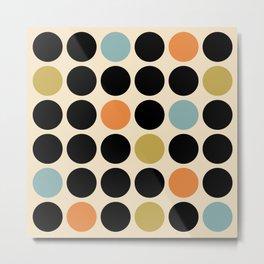 Mid Century Modern Polka Dot Pattern 424 Metal Print