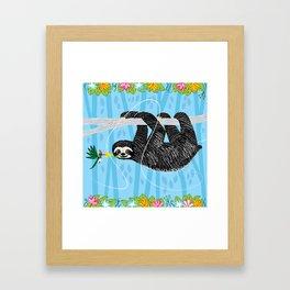The Sloth and The Hummingbird Framed Art Print