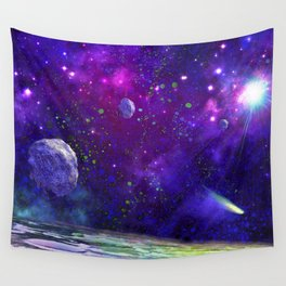 View From a Distant Moon Wall Tapestry