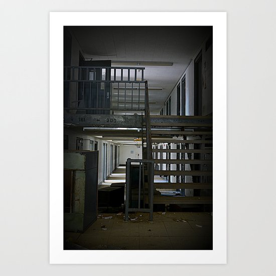 Abandoned Prison, No Walkers  Art Print