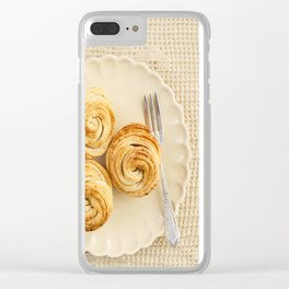 Fresh baked cruffins Clear iPhone Case
