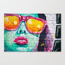 Graffiti Of Women On Wall Canvas Print