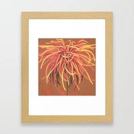 Big Orange Pop Art Chrysthanthemum Framed Art Print