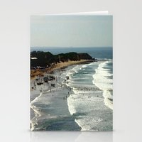 rowing Stationery Cards featuring Torquay Heads - Rowing Regatta - Australia by Chris' Landscape Images & Designs