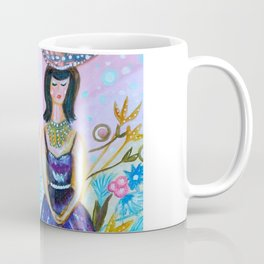 Wandering In My Favourite Purple Shiny Dress Coffee Mug