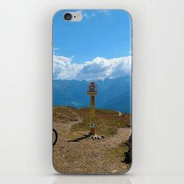 mountain bike frommes trail alps serfaus fiss ladis tyrol austria europe iPhone Skin