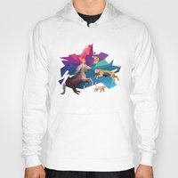 low poly Hoodies featuring low poly animals by sofiefatale