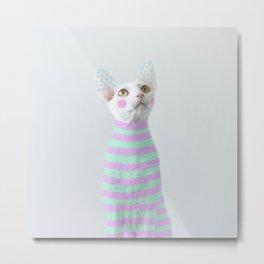 Stripes and polka dots Metal Print