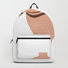Greek Pottery 30 - Hydria - Terracotta Series - Modern, Contemporary, Minimal Abstract - Light Brown Backpack