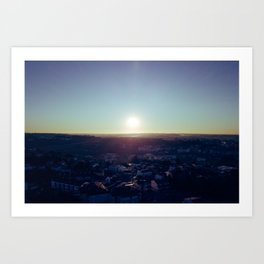 Sunset from the sky Art Print