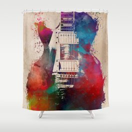guitar art #guitar Shower Curtain