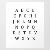 Classic Alphabet Uppercase Sign Art Print