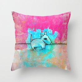 Dog No.1g by Kathy Morton Stanion Throw Pillow