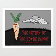 The zombie carrot Art Print