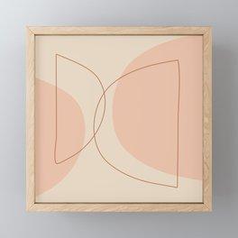 Hand Drawn Geometric Lines in Earthy Shades Framed Mini Art Print