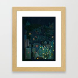 Losing The Forest Framed Art Print