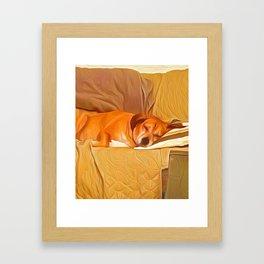 Lucy Sleeping East Framed Art Print