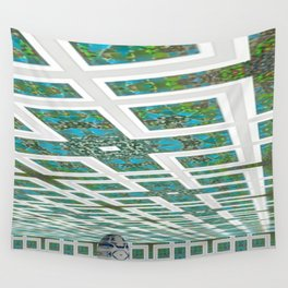 Green and Snowblue Egg 2 Wall Tapestry