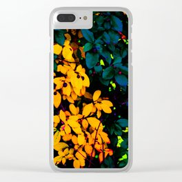 Just Off Whyte Ave - Yellow Leaves in Edmonton, AB Clear iPhone Case