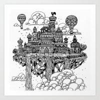 Floating city Art Print