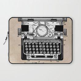 patent art typewriter Laptop Sleeve