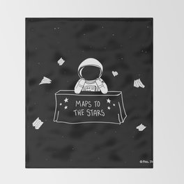 Selling Maps to the Stars Throw Blanket