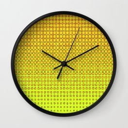 CONTEMPORARY MODERN YELLOW-ORANGE OPTIC Wall Clock