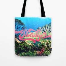 Pink Teal Retro Paradise Vintage Style Photography Tote Bag