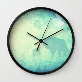 Wolf Pack Ghosts Wall Clock
