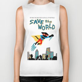 Save the World Biker Tank