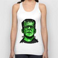 frankenstein Tank Tops featuring Frankenstein  by Bleachydrew